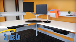 SpaceCo Sit Stand Desk